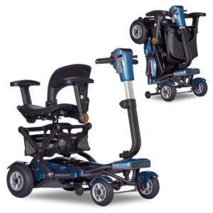 brio 4 auto swivel seat metallic blue