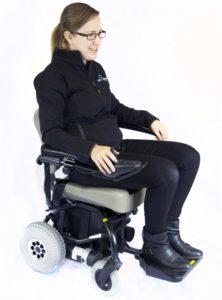 woman riding a mini electric